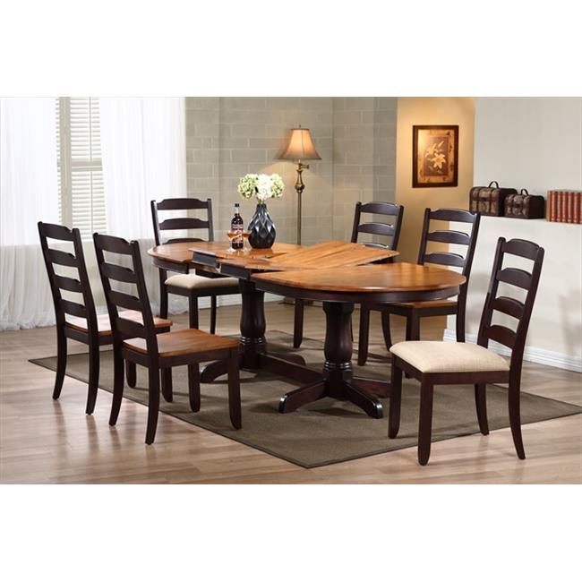 Iconic Furniture Oval Dining Table, Whiskey & Mocha