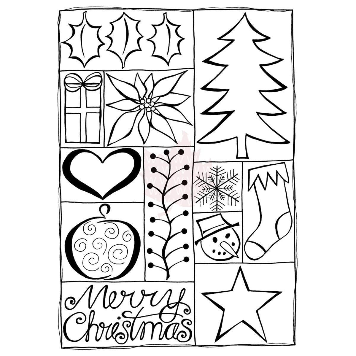 Woodware Craft Collection Woodware Clear Stamps 4 X6  Sheet - Christmas Quilt
