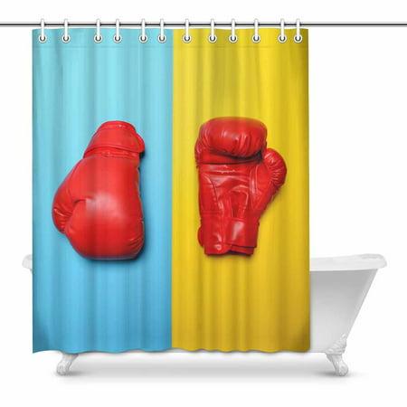 Mkhert Funny Red Boxing Gloves On Blue