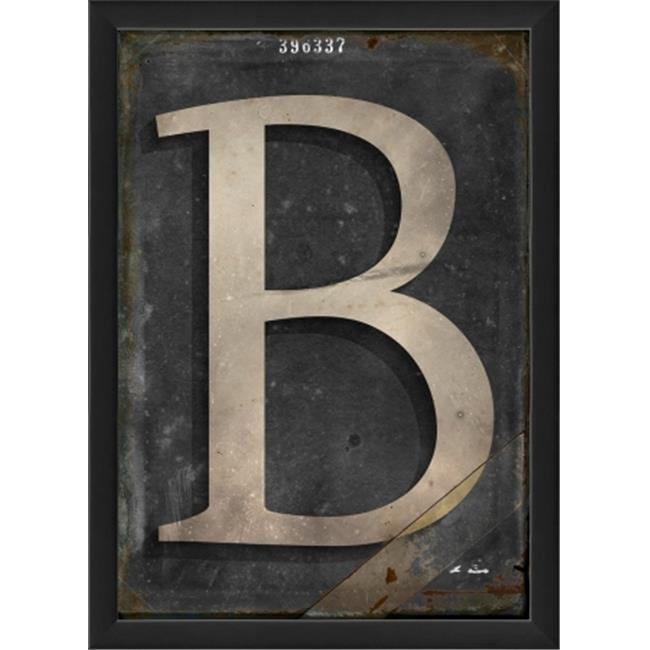 The Artwork Factory 19086 Letter B Ready to Hang Artwork, Black