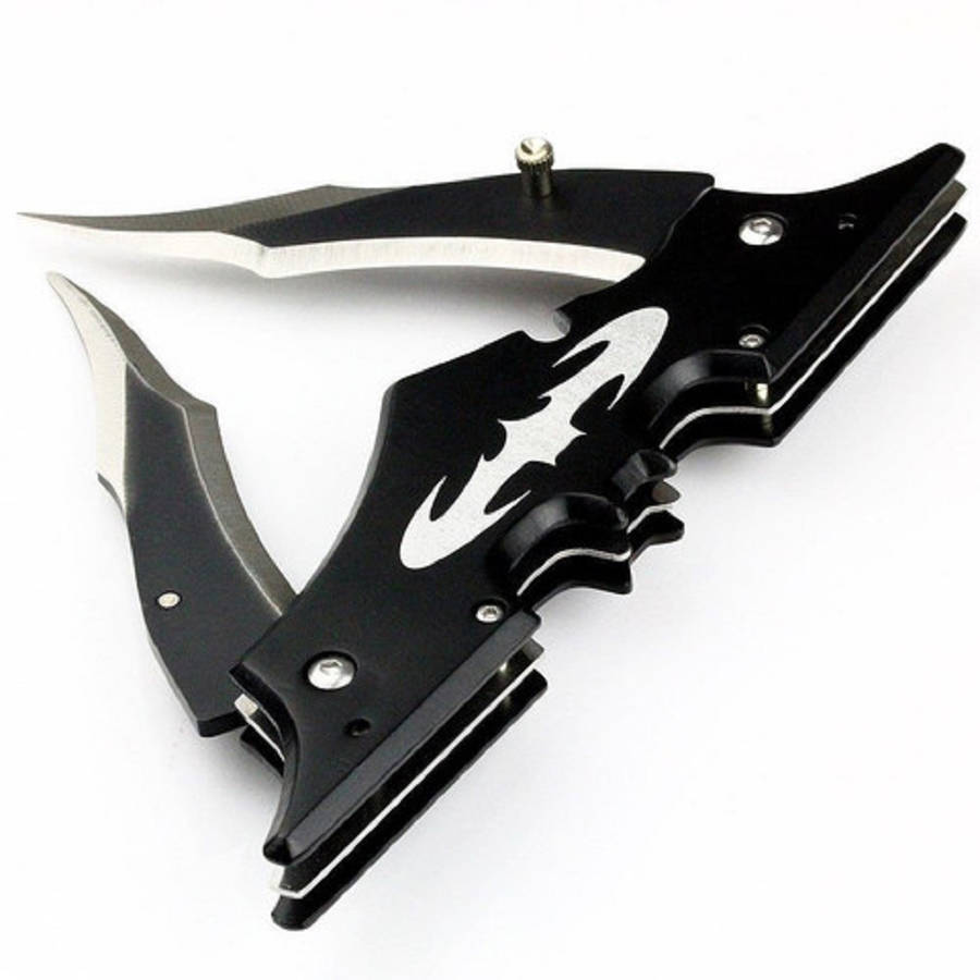 Batman Dual Blade Knife, Black, 11.5""