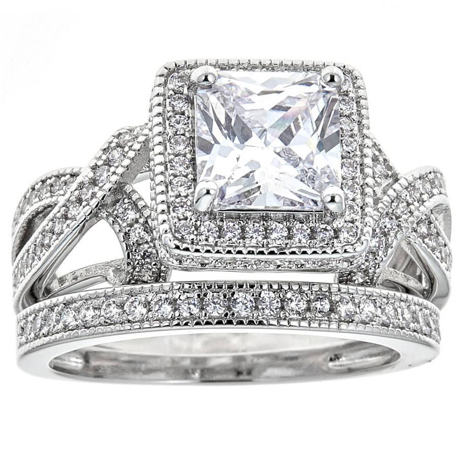 Double French Set Bridal Engagement Ring- Size 9