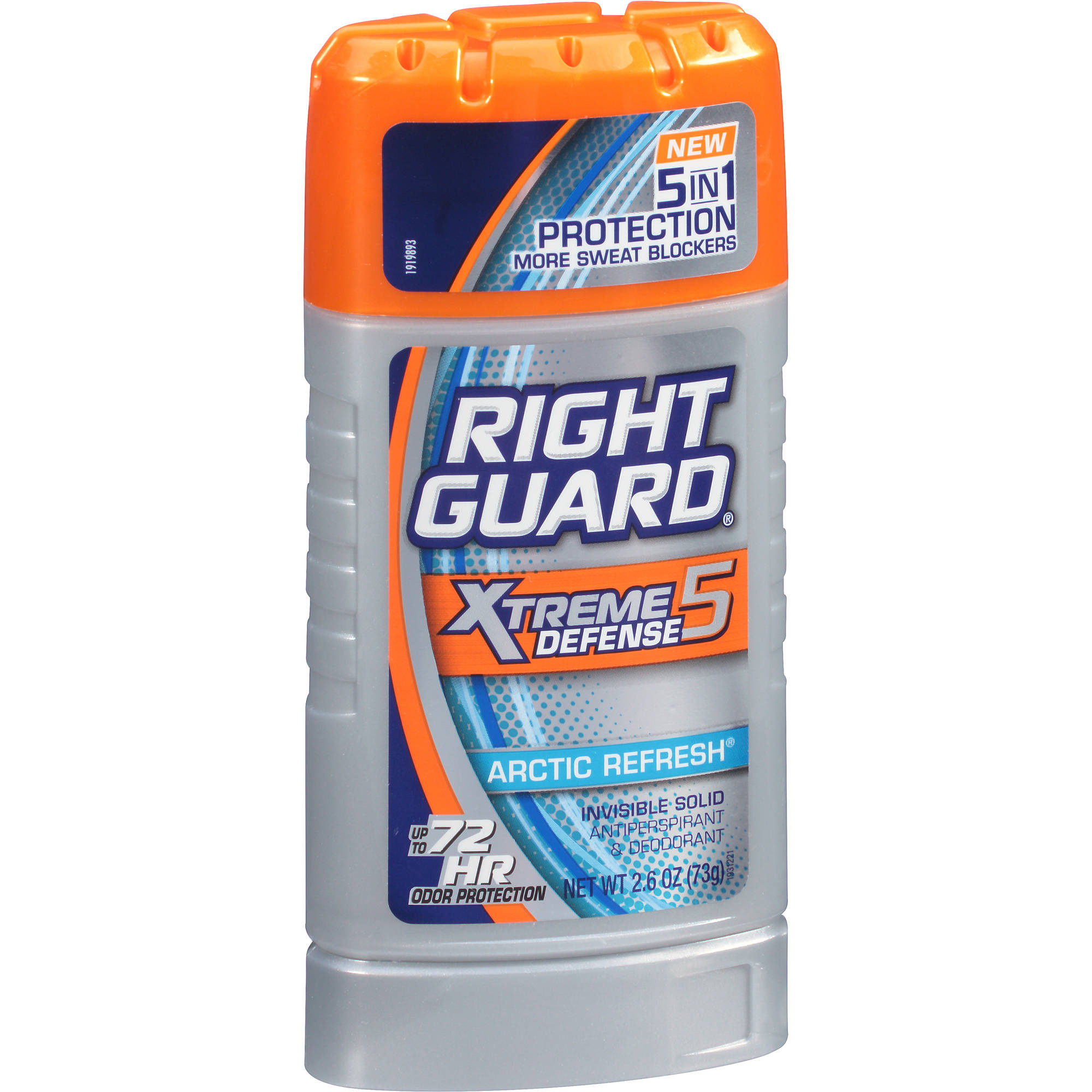 Right Guard Xtreme Invisible Solid Arctic Refresh w/Powerstipe Anti-Perspirant/Deodorant, 2.6 oz