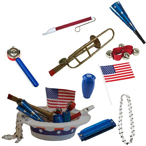 Labor Day Picnic / Parade Pack for Kids- Music & Fun Pack F1