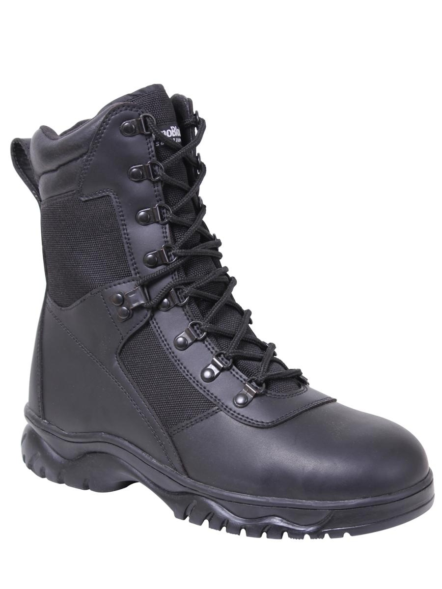 """Rothco Forced Entry Insulated 8"""" Black Waterproof Side Zipped Tactical Boot"""