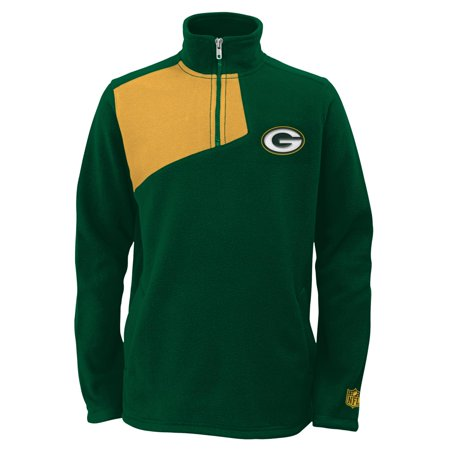 Green Bay Packers Youth Nfl   Flex   1 4 Zip Polar Fleece Sweatshirt