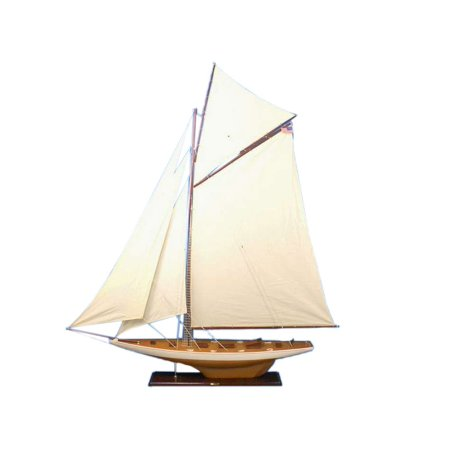 Columbia 80 Wooden Sailboat Museum Quality Model Boat Nautical Decoration Wood Sailing Not A
