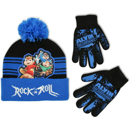 alvin and the chipmunks little boys hat and gloves cold weather set