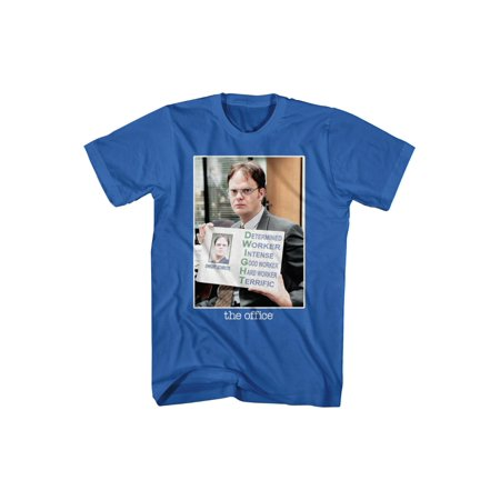 The Office Dwight determined worker intense terrific Color Adult T-Shirt Tee](Dwight Halloween The Office)