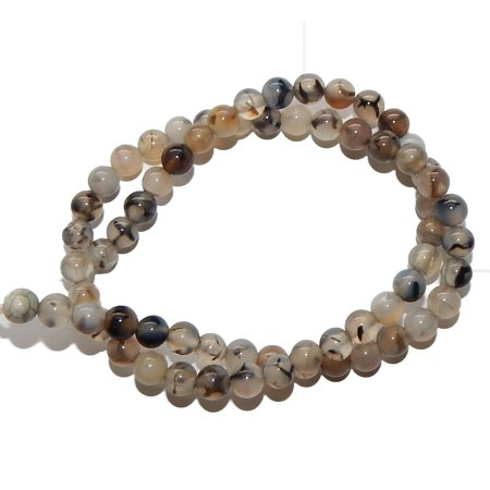 6mm Fire and Ice Agate Natural Round, Loose Beads, 40cm 15 inch Stone