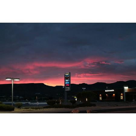 LAMINATED POSTER Sunset U S California Kingman Chevron Poster Print 24 x 36 (Chevron Pictures)