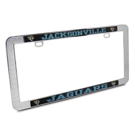 NFL Jacksonville Jaguars Metal Thin Rim License Plate Frame ...