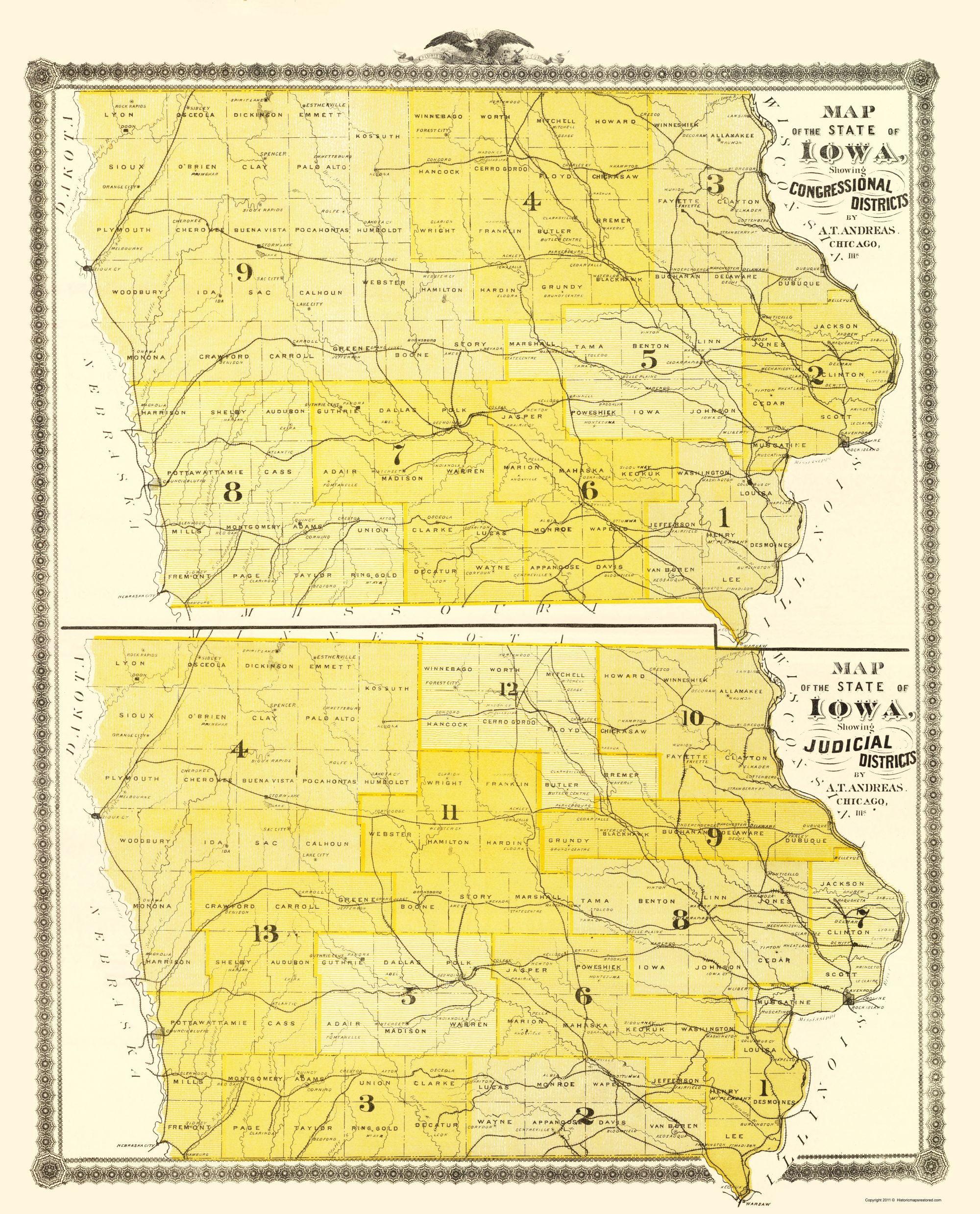 Iowa With Congressional, Judicial