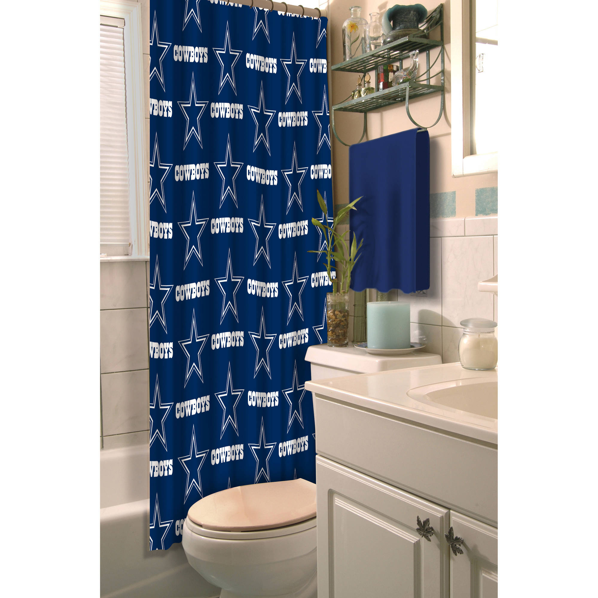 Bathroom decoration shower curtain - Nfl Dallas Cowboys Decorative Bath Collection Shower Curtain Walmart Com