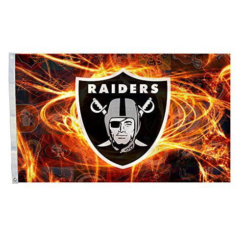 DEYOU Oakland Raiders Flag 3x5 Feet Banner Flag