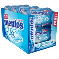 Mentos, Pure Fresh, Sugar Free Mint Chewing Gum, 50 Pcs, 6 Ct
