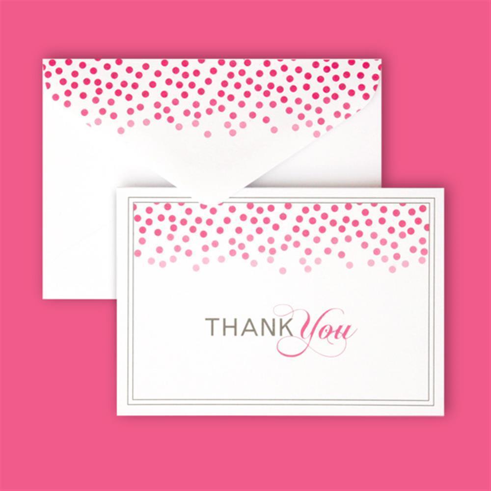 Gartner Studios Brides Pink Confetti Thank You Cards Case Of 40
