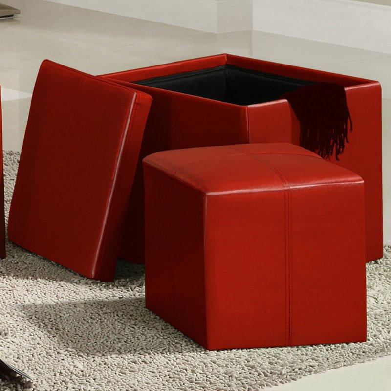 Chelsea Lane Ladd Storage Ottoman Cube