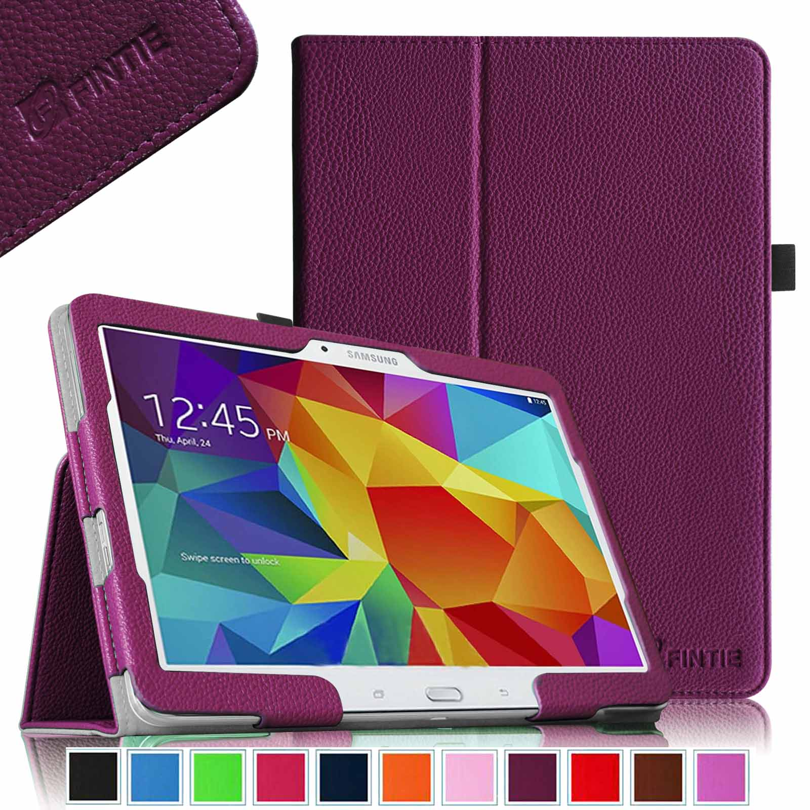 Fintie Samsung Galaxy Tab 4 10.1 / Tab 4 Nook 10.1 Folio Case - Slim Fit PU Leather Cover with Auto Sleep/Wake, Purple