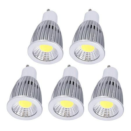 Aluminum Housing Bright GU10 12W LED COB Spot Light Bulb 110V (Box of 5)