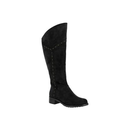 Dc Super Park Boot (Bella Vita  Women's Alanis II Black Super Suede Tall)