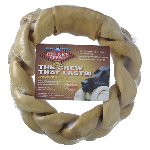 "Chunky Chews 8"" Jumbo Beef Braided Ring"