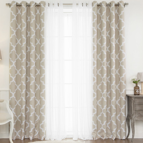 Best Home Fashion, Inc. Mix & Match Curtain Panel (Set of 4)