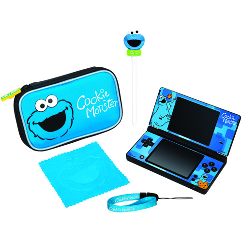 dreamGEAR Cookie Monster Starter Kit - Accessory kit - for Nintendo DS Lite, Nintendo DSi, Nintendo DSi XL
