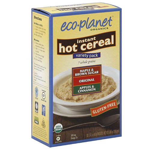 Eco-Planet Instant Hot Cereal Variety Pack, 6 count, (Pack of 6)