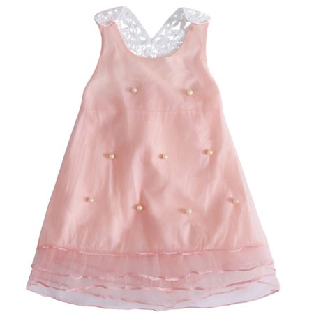3b219bb19 Sweetsmile - Sweetsmile Summer Baby Girls Dresses Backless Mesh ...