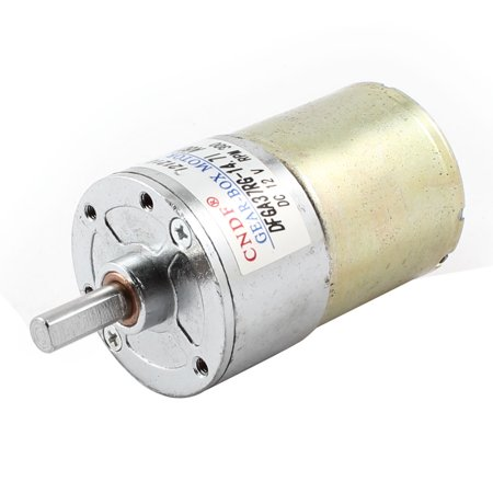 12V 300RPM 2 Pin Connector Speed Reduce DC Gearbox Motor Silver Tone