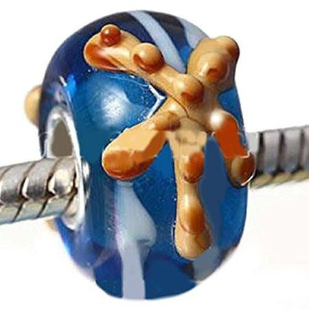 Exquisite Murano Glass Star Fish on European Bead Compatible for Most European Snake Chain (Exquisite Beading)
