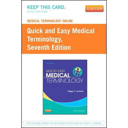 Medical Terminology Online for Quick & Easy Medical Terminology (Access Code),