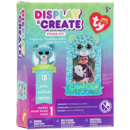 Boo Essential Care Kit - Ty Beanie Boo Wood Peek A Boo Frame Kit, Leona the Leopard