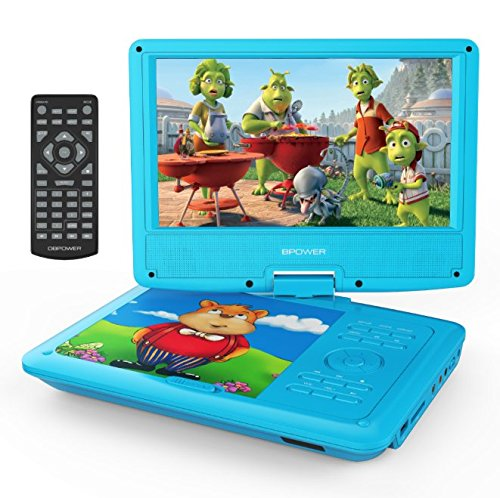 """DBPOWER 9"""" Portable DVD Player for Kids, Swivel Screen, 3 Hours Rechargeable Battery,... by DBPOWER"""