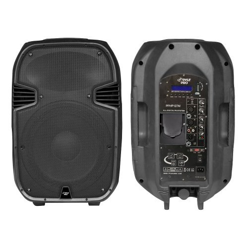 PylePro Pphp127ai 1200W Powered 2-Way Full Range PA Speaker with Built-in iPod Dock by Pyle