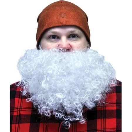 White Big and Curly Beard Adult Halloween - Big White Teeth Halloween