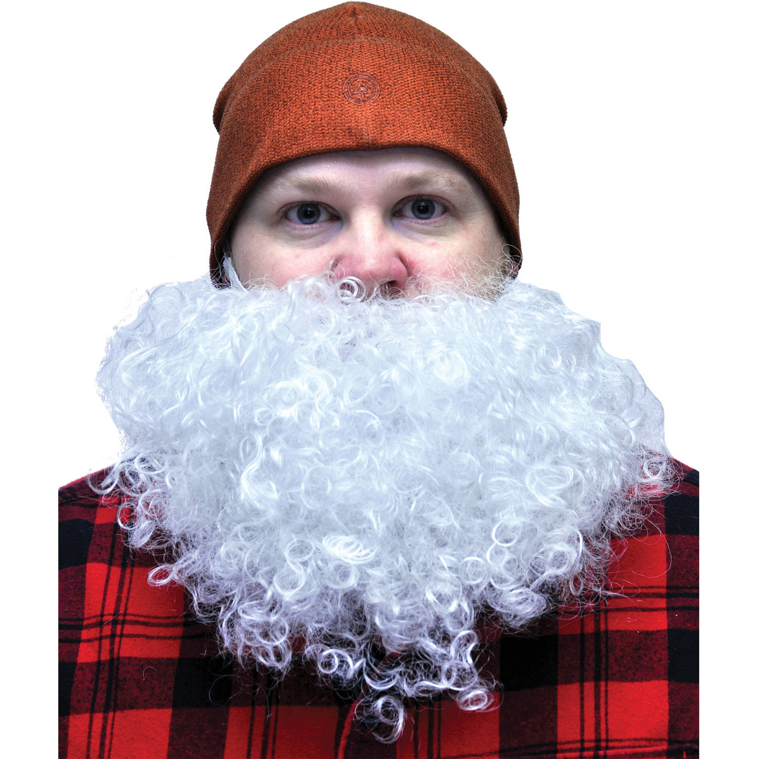 White Big and Curly Beard Adult Halloween Accessory
