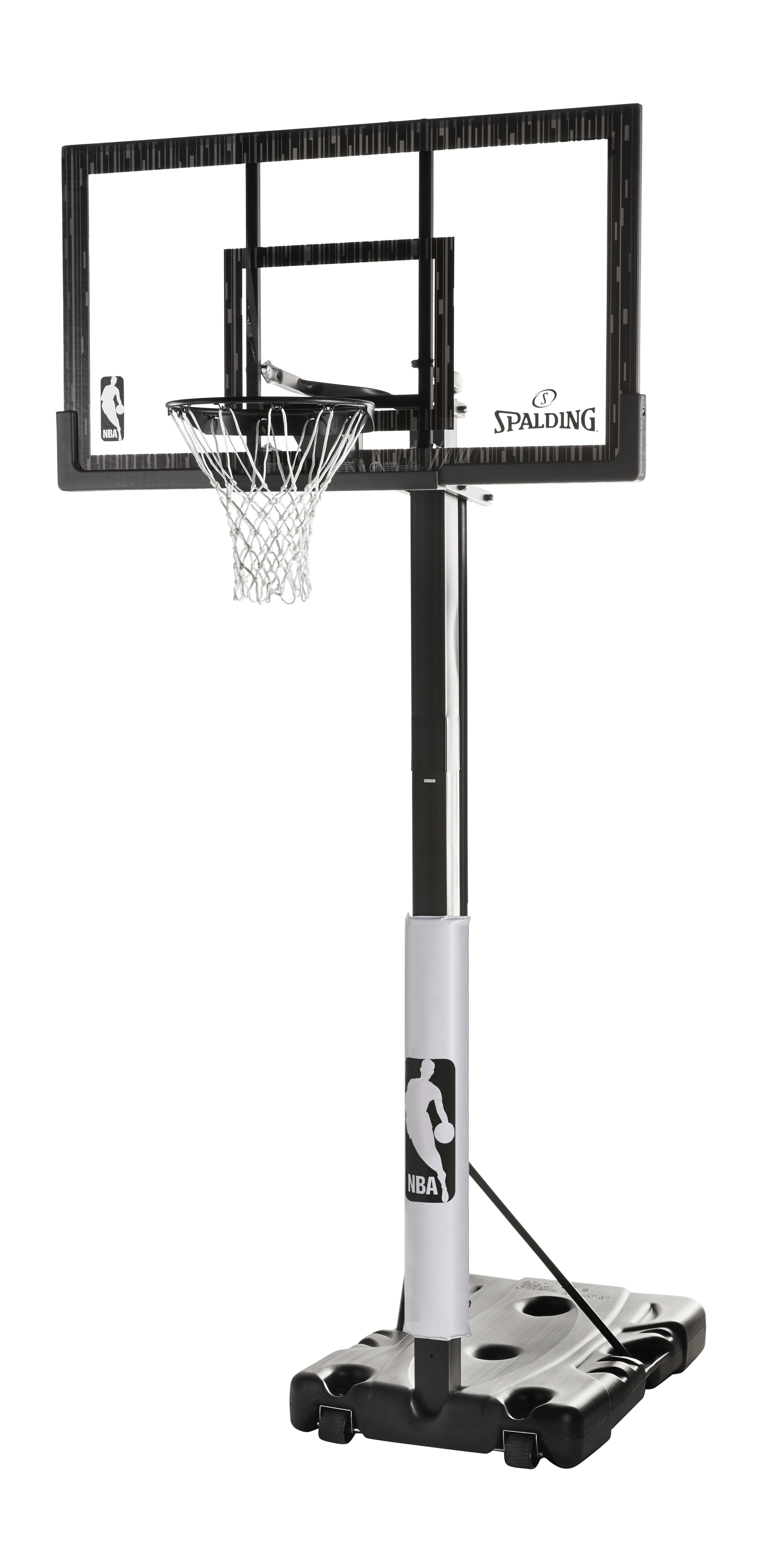 "Spalding NBA 60"" Acrylic Screw Jack Portable Hoop System by Spalding"