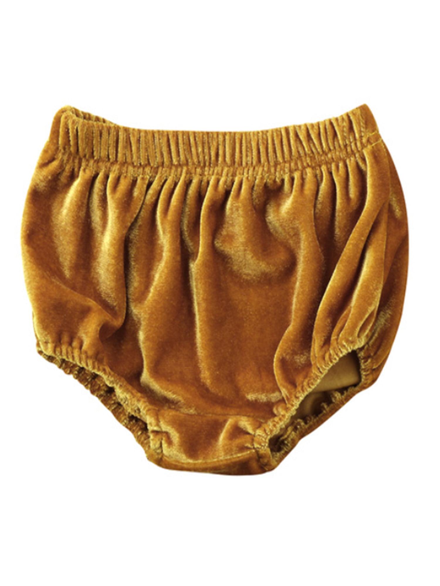 stylesilove Infant Baby Girl Velvet Bloomer Shorts (80/6-12 Months, Grey)