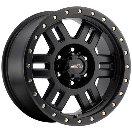 "Vision 398 Manx 15x8 6x5.5"" -19mm Matte Black Wheel Rim 15"" Inch"