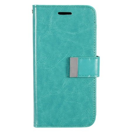 Samsung Galaxy S7 Edge Case, by Insten Folio Flip Leather [Card Slot] Wallet Flap Pouch Case Cover For Samsung Galaxy S7 Edge, Mint Green
