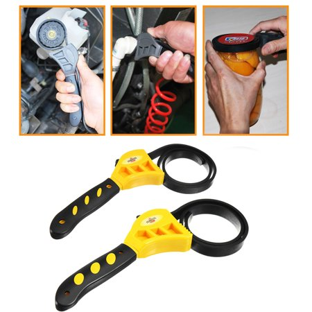 6 8 Multi function Rubber Strap Wrench Spanner for Oil Filter Car Repa