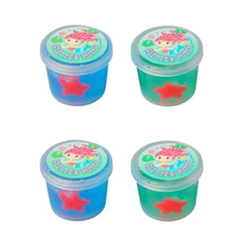 Mermaid Glitter Ooze Putty / Favors (4ct)