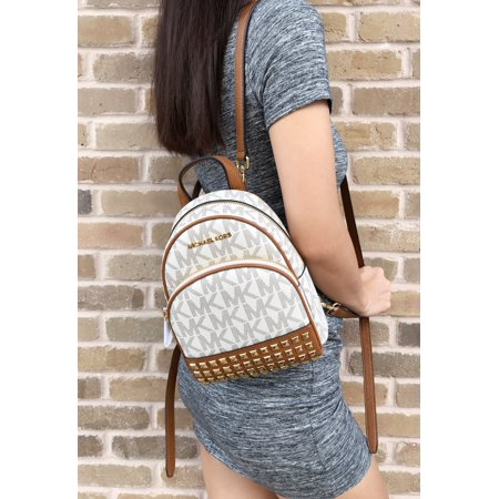 e8d0a0a211e57 Michael Kors - NWT Michael Kors Abbey Mini Backpack Crossbody Stud Vanilla  MK Acorn Extra Small - Walmart.com