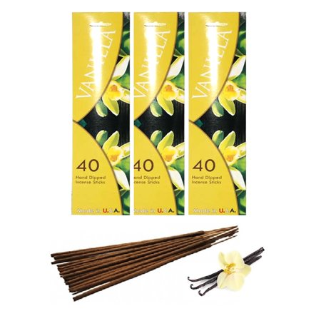 120 Vanilla Scent Joss Incense Stick Hand Dipped Fragrance Burning Perfume (Best Quality Bully Sticks)