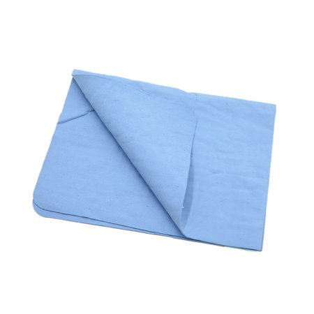 Unique BargainsBlue Synthetic Chamois Auto Car Care Dry Washing Cloth Clean Towel 43cm x