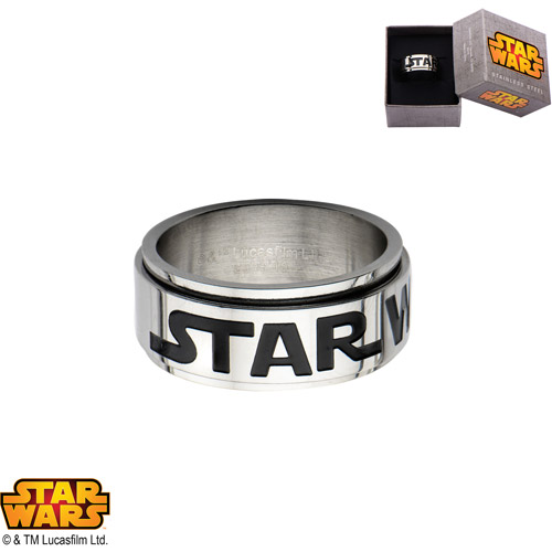 Disney Stainless Steel Star Wars Logo Spinner Ring