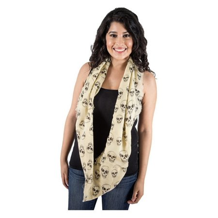 Zodaca Fashion Women Ladies Lightweight Soft Skull Infinity Scarf