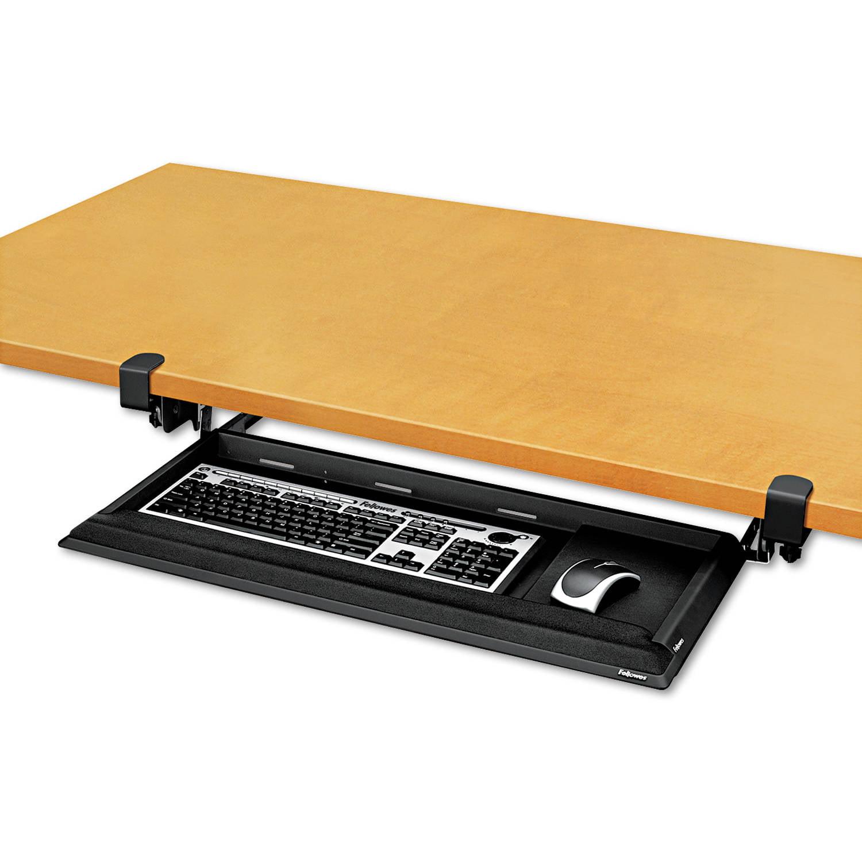 Fellowes Designer Suites DeskReady Keyboard Drawer, 19-3/16w x 9-13/16d, Black Pearl